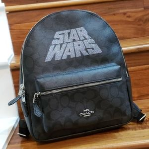 NWT Coach Star War Sig. Medium Charlie backpack